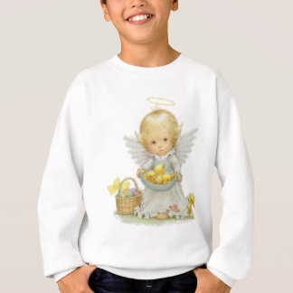 Cute Easter Angel and Ducklings Sweatshirt