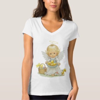 Cute Easter Angel and Ducklings T Shirt