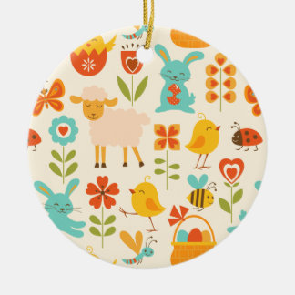 Cute Easter animals Ornament