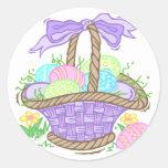 Cute Easter Basket Design Classic Round Sticker