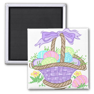 Cute Easter Basket Design Magnet