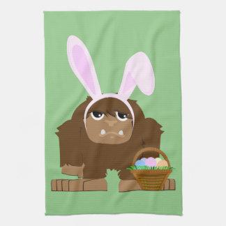 Cute Easter Bigfoot Hand Towel