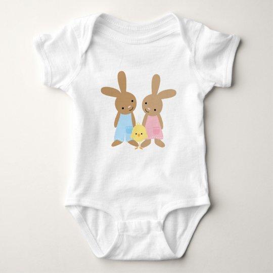 Cute Easter Bunnies Baby Bodysuit