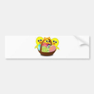 Cute Easter Bunnies Bumper Sticker