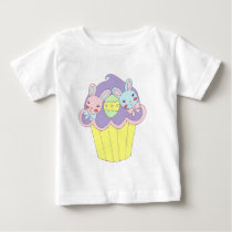 Cute Easter Bunnies Cupcake Baby T-Shirt