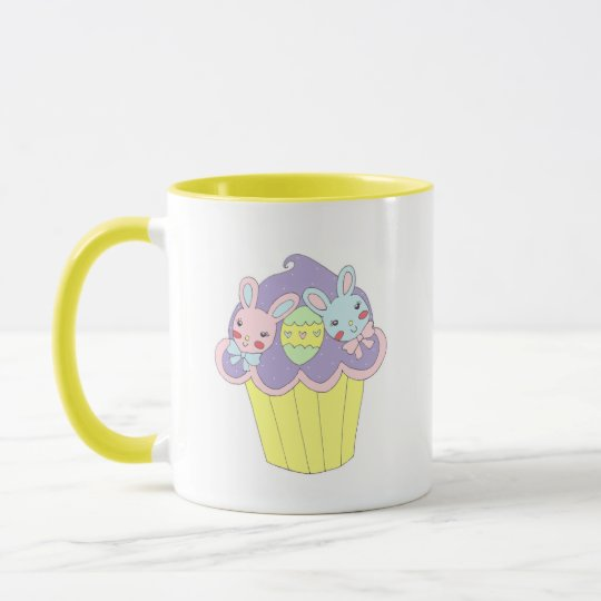 Cute Easter Bunnies Cupcake Mug