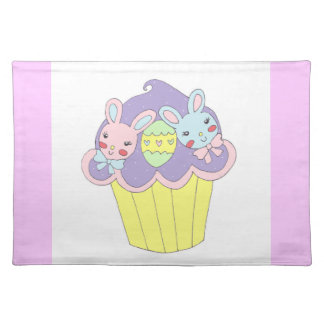 Cute Easter Bunnies Cupcake Placemat
