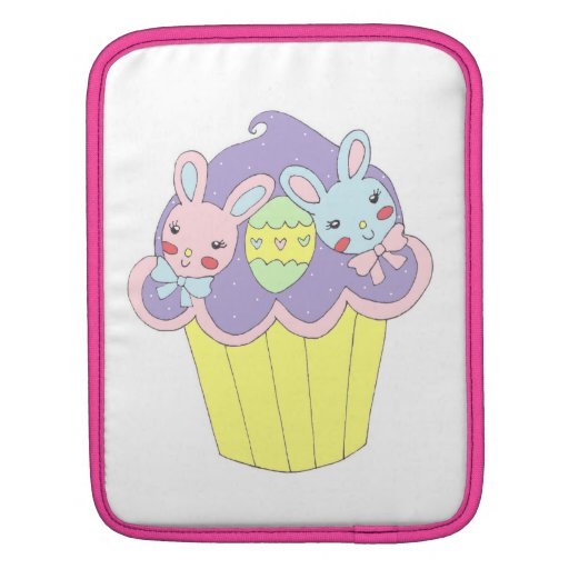 Cute Easter Bunnies Cupcake Sleeve For iPads
