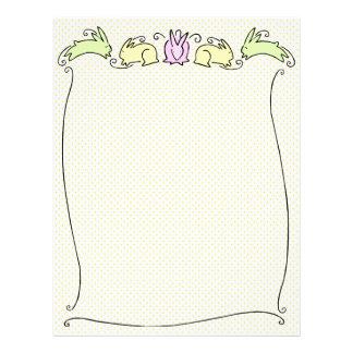 Cute Easter Bunnies Letterhead