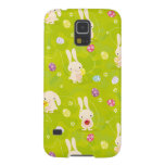 Cute easter bunnies on a meadow case for galaxy s5