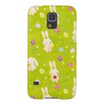 Cute easter bunnies on a meadow galaxy nexus cases