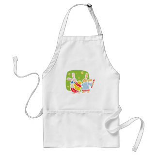Cute Easter bunnies painting design Adult Apron