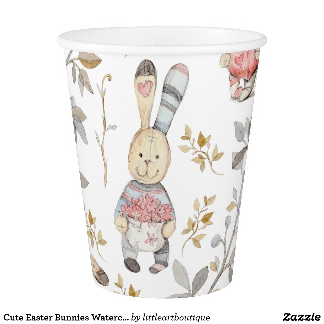 Cute Easter Bunnies Paper Cup