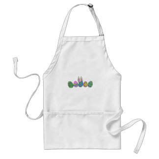 Cute easter bunny adult apron