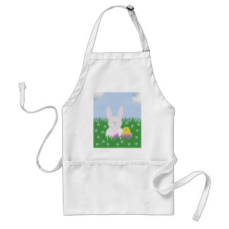 Cute Easter Bunny and Baby Duck Apron