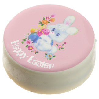 Cute Easter Bunny and eggs Holiday cookie