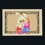 "Cute Easter Bunny and eggs Holiday place mat<br><div class=""desc"">design by Barry at www.psptubez.com frame by Cheryl Seslar at www.digiwebstudio.com</div>"
