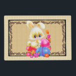 "Cute Easter Bunny and eggs Holiday place mat<br><div class=""desc"">design by Barry at www.psptubez.com frame by Cheryl Seslar at www.digiwebstudio.com</div>"