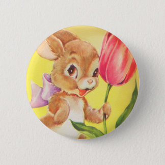 Cute Easter Bunny Button