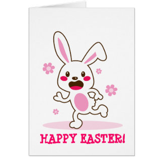 Cute Easter Bunny Stationery Note Card