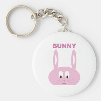 Cute Easter Bunny Character Basic Round Button Keychain