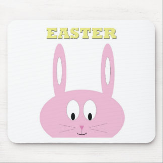 Cute Easter Bunny Character Mouse Pad