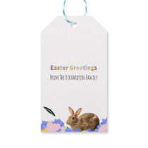 Cute Easter Bunny Children's Party Favor Gift Tags