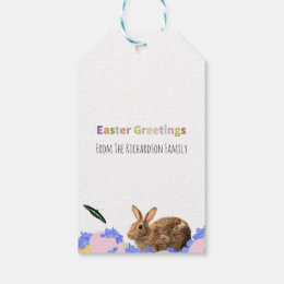 Easter party gift tags zazzle cute easter bunny childrens party favor gift tags negle Image collections