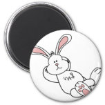 Cute Easter Bunny Chilling out 2 Inch Round Magnet
