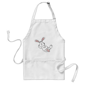 Cute Easter Bunny Chilling out Adult Apron