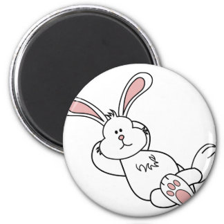 Cute Easter Bunny Chilling out Magnet