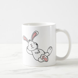 Cute Easter Bunny Chilling out Coffee Mug