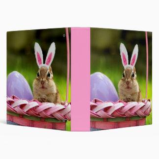 "Cute Easter Bunny Chipmunk 1.5"" Photo Album Binder"
