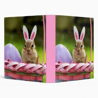 "Cute Easter Bunny Chipmunk 1"" Photo Album 3 Ring Binder"