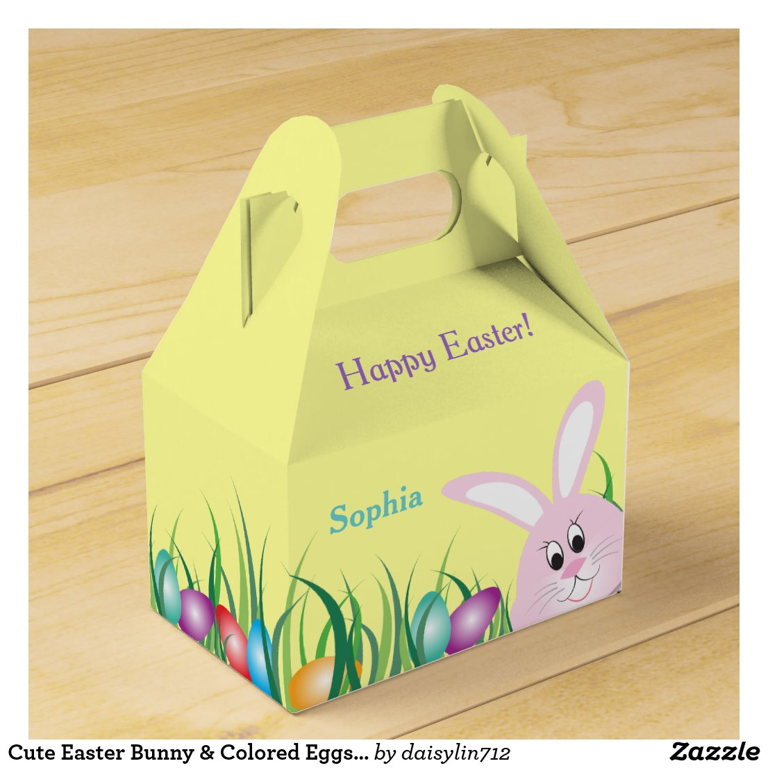 Easter Bunny Personalized Favor Box