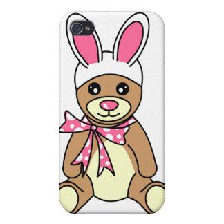 Cute Easter Bunny Ears Teddy Bear Cases For iPhone 4