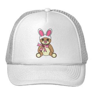 Cute Easter Bunny Ears Teddy Bear Trucker Hats