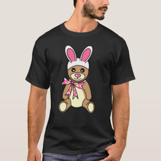 Cute Easter Bunny Ears Teddy Bear T-Shirt