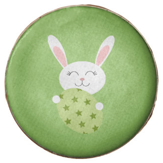 Cute Easter Bunny (Green) Chocolate Dipped Oreo