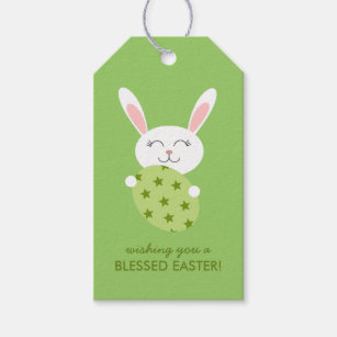 Bunny gift tags zazzle cute easter bunny green gift tags negle Image collections