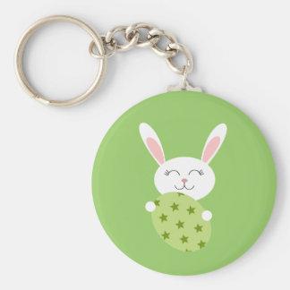 Cute Easter Bunny (Green) Keychain