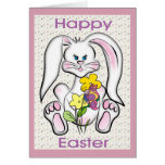 Cute Easter Bunny Greeting Card