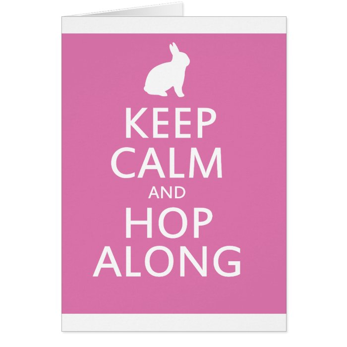 Cute Easter Bunny Hop Along Card