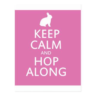 Cute Easter Bunny Hop Along Postcard