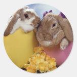 Cute Easter Bunny inside Eggs Sticker
