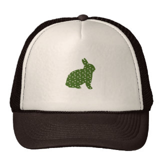 Cute Easter bunny olive green with white spots Trucker Hat