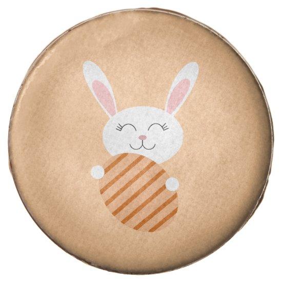 Cute Easter Bunny (Orange) Chocolate Dipped Oreo