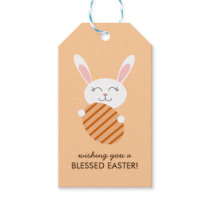 Cute Easter Bunny (Orange) Gift Tags