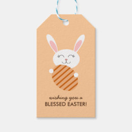 Hunting gift tags zazzle cute easter bunny orange gift tags negle Gallery