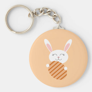 Cute Easter Bunny (Orange) Keychain